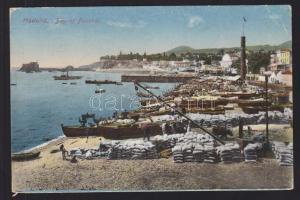 1923 Hajóposta képeslap Funchalról Hágába