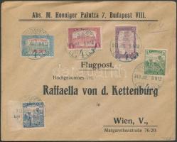 1918.07.08. Légi levél Bécsbe / Airmail cover to Vienna