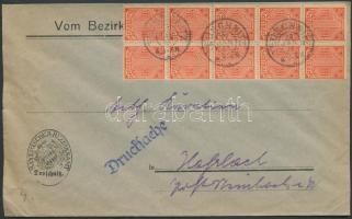 1923 Hivatalos Mi 30 tízestömb nyomtatványon