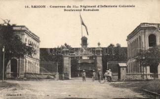 Saigon, 11th infantry regiment colonial military barracks, Boulevard Norodom