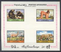 1974 Fauna: Emlősállatok blokk Mi 70