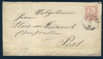 1873 5kr díjjegyes boríték VADKERT PEST M