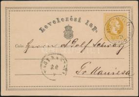 1871 Díjjegyes levelezőlap / PS-card CSURGÓ SOMOGY M. - NAGY KANISA
