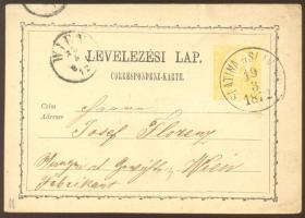 1872 Díjjegyes levelezőlap / PS-card SLATINA U SLAVONII - WIEN