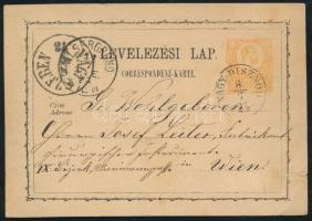 1873 Díjjegyes levelezőlap / PS-card NAGY-DISZNÓD - NAGY SZEBEN - ALSERGRUND WIEN