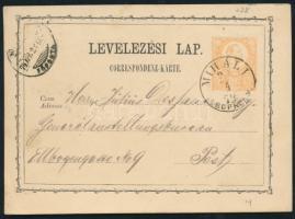 1874 Díjjegyes levelezőlap / PS-card MIHALI SOPRON M. - Pest