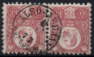 1871 Réznyomat 5kr pár / Mi 10 pair ALSÓ-ÁBRÁNY BORSOD M.