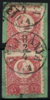 1871 Réznyomat 2 x 5kr BÉLABÁNYA