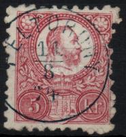 1871 Réznyomat 5kr / Mi 10 FÉLTORONY