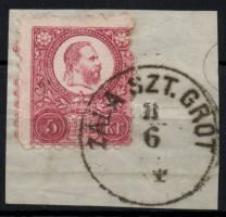 1871 Réznyomat 5kr / Mi 10 ZALA SZT. GRÓT