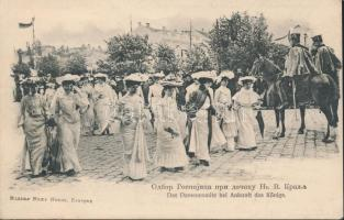 Belgrade, Das Damencomite bei Ankunft des Königs / The Women's Committee at the king's arrival