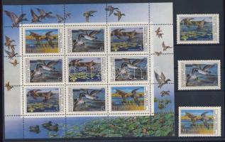 1990 Kacsák sor Mi 6099-6101 + kisív