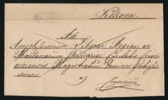 1845 Franco R:SZOMBATH - Cremnicii