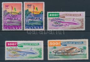 1960 Római olimpia felülnyomott sor Mi 49-53