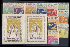 1964 Tokiói olimpia (V) sor Mi 859-868 + blokk 25A-B