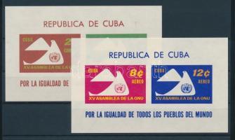 1961 15 éves az ENSZ blokk Mi 20-21