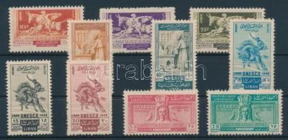 1948 UNESCO sor Mi 398-407 + blokk Mi 11