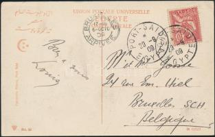 "Postcard ""PORT SAID"" - ""BRUXELLES"", Képeslap ""PORT SAID"" - ""BRUXELLES"""