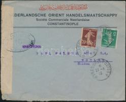 Censored field post cover from Constantinople to Switzerland, Cenzúrás tábori posta levél Konstantinápolyból Svájcba