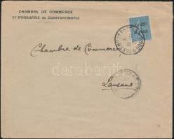 Field post cover from Constantinople to Switzerland, Tábori posta levél Konstantinápolyból Svájcba