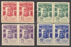 1931 Mi 459-462 párok / pairs