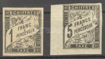 1884 Kiadatlan portóbélyegek / unissued postage due stamps Mi I + III