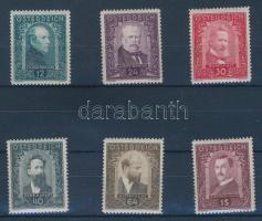 1932 Festők sor Mi 545-550