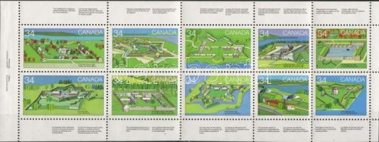 Fortress stamp-booklet sheet, Erődök bélyegfüzetlap