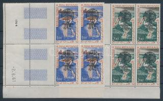 1962 Küzdelem a malária ellen sor felülnyomással négyestömbökben Mi VII-VIII I. típus