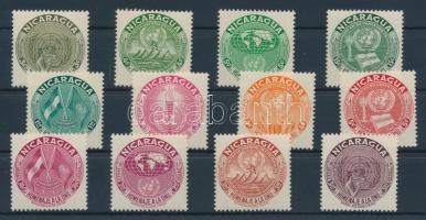 1954 ENSZ sor Mi 1060-1071
