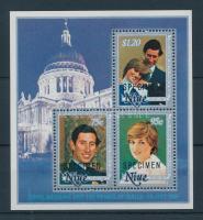 1981 Károly herceg és Lady Diana Spencer esküvője MINTA blokk 48