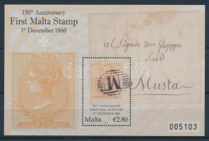 2010 150 éves a máltai bélyeg blokk Mi blokk 48