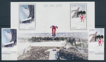 2011 Északi sívilágbajnokság sor Mi 1746-1747 + blokk Mi 41