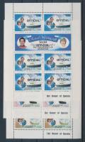 Official Prince Charles and Lady Diana's wedding mini sheet set, Hivatalos Károly herceg és Lady Diana esküvője kisívsor