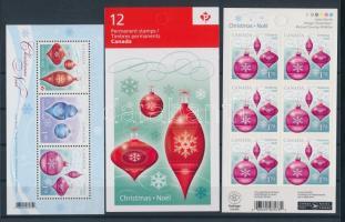 2010 Karácsony blokk Mi 133 + öntapadós bélyegfüzet Mi 2673 és füzetlap Mi 2675