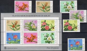 1983 Virágok sor Mi 505-510 + blokk Mi 1