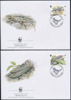 2004 Veszélyeztetett állatok sor Mi 1143-1146 4 db FDC-n