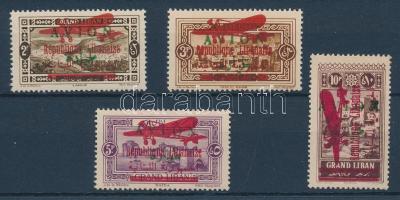 1928 Mi 71-74 Köztársaság és Repülő felülnyomással