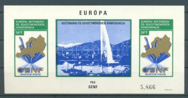1974 Európa Genf vágott blokk (22.000)
