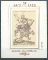 1979 Festmény (XVIII)- Albrecht Dürer vágott blokk (7.000)