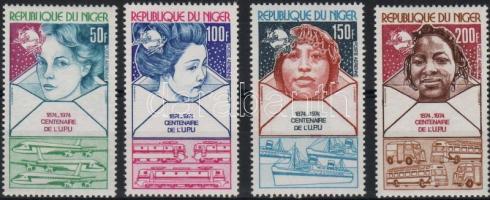 1974 100 éves az UPU:rasszok Mi 442-445