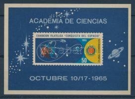 1965 Conquista del Espacio Bélyegkiállítás, Havanna blokk Mi 27
