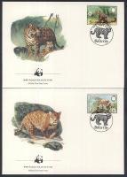 1983 WWF: Jaguár sor Mi 719-722 4 db FDC-n