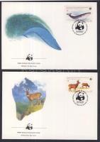 1984 WWF: Amerikai tapír sor Mi 1066-1069 4 db FDC-n