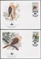1985 WWF: Rózsás galamb sor Mi 609-612 4 db FDC-n
