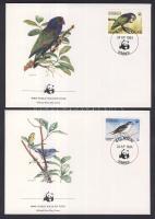 1984 WWF: Madarak sor Mi 836-839 4 db FDC-n