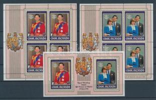 1981 Károly és Diana esküvője Mi 778-779 kisívpár + blokk 115