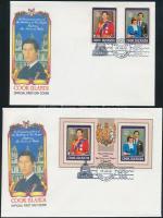1981 Károly és Diana esküvője Mi 778-779 + blokk 115 2 db FDC-n