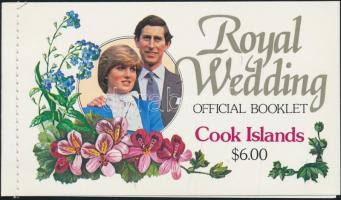 1981 Károly és Diana esküvője Mi 778-779 bélyegfüzet