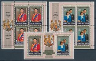 1982 Vilmos herceg születése Mi 818-821 kisívpár + blokk 124